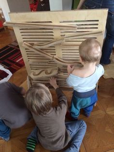 Marble run for my god-Child Happy Lab, Marble, Texture, God, Children, Crafts, Projects, Dios, Boys