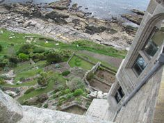 View from top of St. Michael's Mount - Cornwall, England