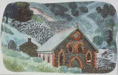 """""""A Welsh Chapel"""" by Kenneth Rowntree"""