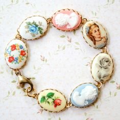 Vintage Cameo Bracelet - love it!. via Etsy