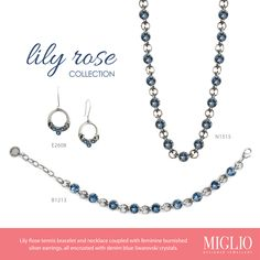 Lily Rose Style Designer Jewellery, Jewelry Design, Necklaces, Bracelets, Blue Denim, Jewelry Collection, Silver Earrings, Swarovski Crystals, Jewelery