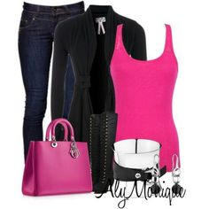 Black and pink are my too fav colors! Love this