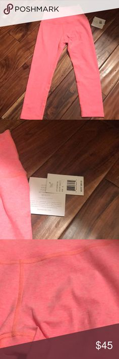 NWT Beyond Yoga Capris Bright coral, new with tags, so soft!! Beyond Yoga Pants Capris