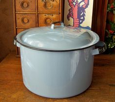 Enamelware Periwinkle Blue Stock Pot by cynthiasattic on Etsy, $28.00