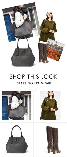 """""""Tote"""" by cleonyc ❤ liked on Polyvore featuring Chloe + Isabel, Very J and Aquazzura"""
