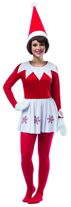 Elf on the Shelf Dress by Rasta Imposta Costumes Christmas Elf Costume, Christmas Costumes, Halloween Costumes, Halloween Ideas, Adult Halloween, Halloween Stuff, Diy Costumes, Halloween Party, Snowman Costume