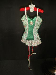 Happy Holidays UNDERMENTS Christmas Lingerie Ornament Decor OOAK Handmade  (seller i.d. elina133)