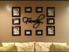 Hallway picture frame arrangements full size of arrangement ideas stairs winning wall photo on pictur Cool Wall Decor, Family Wall Decor, Living Room Decor, Family Room, Accent Wall Decor, Accent Walls, Picture Arrangements On Wall, Family Pictures On Wall, Family Photos