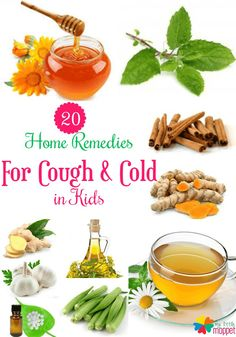 Natural Home Remedies for cough and cold in babies and toddlers. Natural treatment and cure for cough and cold in kids and children