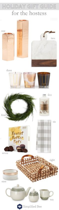 holiday gift guide 2016 // for the hostess #thanksgiving #hostess #giftguide
