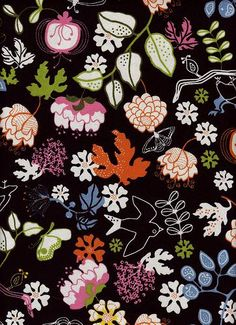 Gunilla Textile Prints, Textile Design, Ikea Fabric, Fabric Patterns, Floral Patterns, Surface Pattern, Slipcovers, Scandinavian, Cool Designs