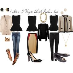 1 Item 3 Ways: The Black Peplum Top