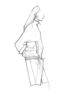 Fashion illustration - fashion design drawing; fashion sketch // Milan Zejak