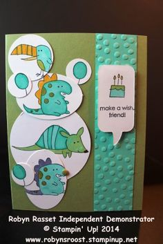 #DSC91, #CardConcept, #Robynsrooststampinup, Anyone need a fun children's birthday card? The Little Buddy stamp set is perfect! www.robynsroost.stampinup.net