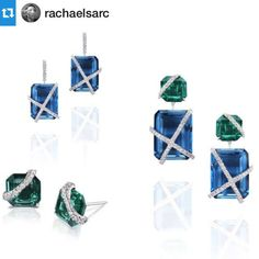The fantastic Leigh #earrings by @rachaelsarc.... | Diamonds in the Library