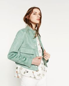 SUEDE EFFECT JACKET from Zara