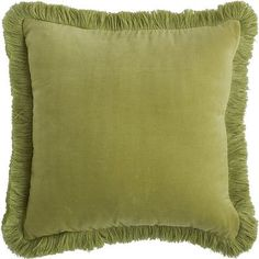Fringe makes everything more fun, and our pretty pillow features a fringed border surrounding a cover that has a super-soft, velvet front and a smooth, silky back. Toss it on your bed, sofa or favorite accent chair to add a bit of sophisticated cheer. A concealed zipper offers easy access to the included poly insert.