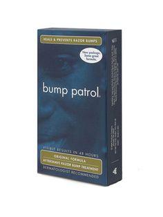 Traitement Après Rasage de  Bump Patrol  Les résultats peuvent être vus en seulement 48 heures   Guérit et prévient les coups de rasoir   Recommendé dermatologiquement