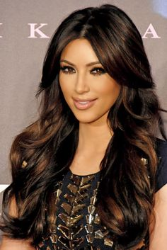 Rich & Luscious Shades Of Brown Hair To Consider Dark brown hair with copper amber natural highlights for Round face