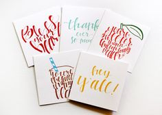 Southern greeting cards by Stately Made