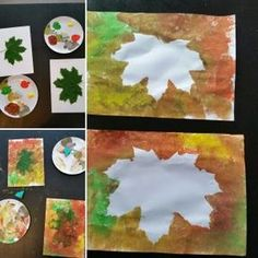 Easy Christmas Crafts, Thanksgiving Crafts, Simple Christmas, Baby Crafts, Toddler Crafts, Diy For Kids, Crafts For Kids, Fall Preschool, Painted Leaves