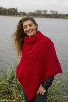 Charlotte´s Poncho - Onesize - Alpaca Storm - Filato.dk Alpacas, Charlotte, Turtle Neck, Model, Sweaters, Pinterest Marketing, Media Marketing, Social Media, Fashion