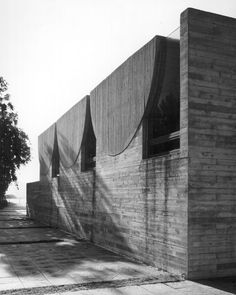 Mortuary (1968-69) in Düren-Merken, Germany, by Wolfgang Meisenheimer