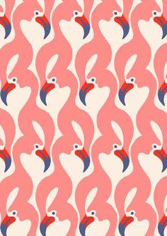 Flamingo pattern by Minakani
