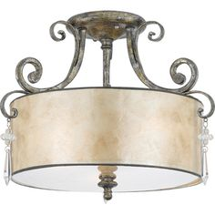 Quoizel 'Kendra' Semi-flush MountQuoizel Flush Mounts love this light because it is called my name!