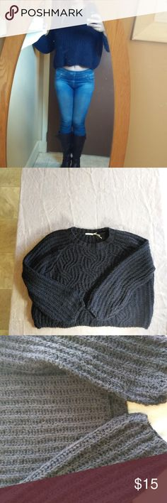 Urban Outfitters Kimchi Blue Sweater, Awesome!! Urban Outfitters Kimchi Blue Sweater, Awesome!! This is an awesome dark blue sweater by Kimchi Blue.  Incredibly soft and cozy and comes from a smoke and pet-free closet. Kimchi Blue Sweaters