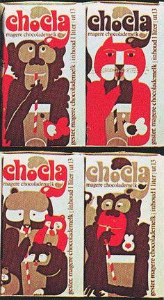 vintage chocolate milk packaging