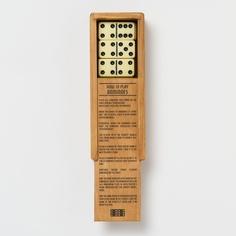 wooden box dominoes