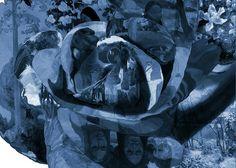 David Bridburg Greeting Card featuring the digital art Rose No 1 by David…