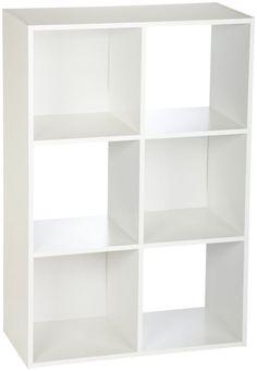 Closetmaid Organizer Cubeicals Cube Espresso 6 White Shelves for Home Office  #ClosetMaidCubeicals