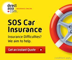 SOS Car Insurance display ad .... a way back into insurance if you've been refused elsewhere: http://www.directasia.com/sg/en/onlineinsurance/sos-car-insurance/