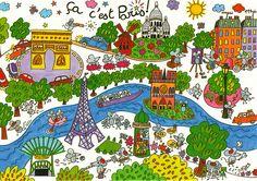 Adorable map of Paris