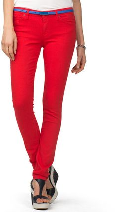 Great color - Tommy Hilfiger Ally jegging in poppy red <3