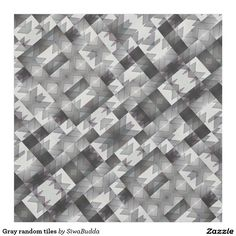 Gray random tiles fabric