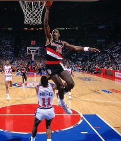 "Clyde ""The Glide"" Drexler ... Phi Slamma Jamma of the 1992 Olympics Dream Team winning the gold in Barcelona!!"
