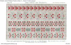 Gallery.ru / Фото #82 - Das ABC der Stickerin - gabbach Cross Stitch Borders, Cross Stitch Flowers, Das Abc, Needlework, Projects To Try, Art Deco, Free, Embroidery, Pillowcases