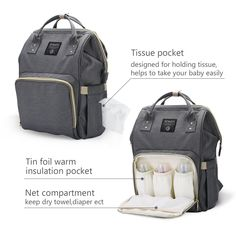 Diaper Bag Backpack for Baby Care MultiFunctional Baby Nappy Changing Bag with Insulated Pockets Waterproof Fabric Large Capacity *** You can get additional details at the image link.-It is an affiliate link to Amazon. #DiaperBags