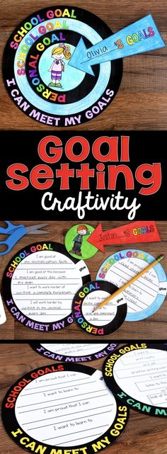 A goal setting craftivity that allows students to artfully express the goals that they set for themselves throughout the year. It comes with a variety of options and can be used at any time of the year.  via @whatilearned