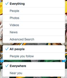 Twitter added new useful search filters.