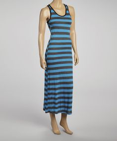 Take+a+look+at+the+Beary+Basics+Blue+&+Black+Stripe+Racerback+Maxi+Dress+on+#zulily+today!