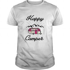 I Love HAPPY CAMPER CAMPING HIKING RV RECREATIONAL VEHICLE MOUNTAINS T shirts #tee #tshirt #named tshirt #hobbie tshirts # Recreational Vehicle
