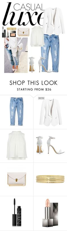 """Untitled #53"" by geniiie ❤ liked on Polyvore featuring MANGO, White House Black Market, Liz Claiborne, NARS Cosmetics and Burberry"