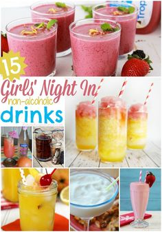 15 Girls\' Night In Non-Alcoholic Drink Recipes #spon