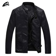 Best Mens Leather Jacket Men Black Leather Mandarin Collar Sheepskin Coat Male Leather Jacket Men Mens Leather Jackets And Coats