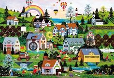 Beverly Jigsaw Puzzle M81-532 Jane Wooster Scott Rainbow (1000 S-Pieces) #Beverly