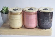 Coconut wax blend candles